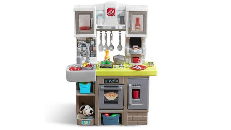 2017: Step2 Contemporary Chef Kitchen playset is made of plastic & comes complete with utensils, a stove that lights up and produces cooking sounds when turned on, and a number of other interesting details. There is limited assembly required, making it perfectly functional right out of the box. They recommend this model for kids who are anywhere from 2 to 7 years old. Price: $99.99