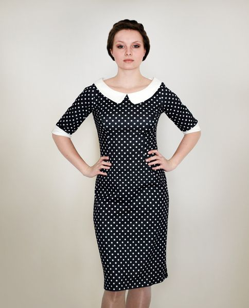 Knee-Length Dresses – J.O.S.E.Y dotted jersey dress – a unique product by Femkit on DaWanda