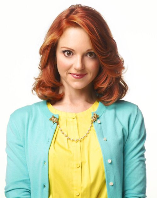 Jayma Mays, I hate Glee but she was on Pushing Daisies and How I met your mother so that makes up for it.