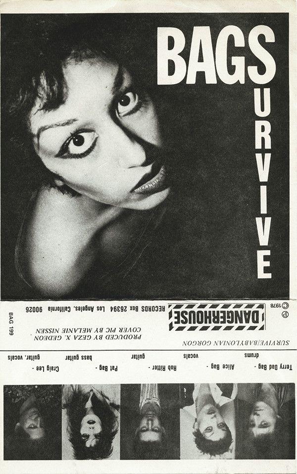 The Bags Survive Vinyl 7 45 Rpm Single Discogs Survival Bags Punx