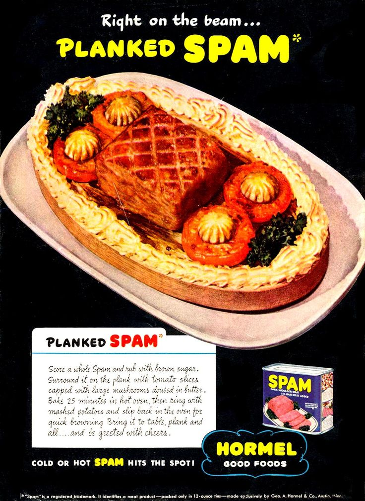 Planked Spamsee More Recipes On The Great Site