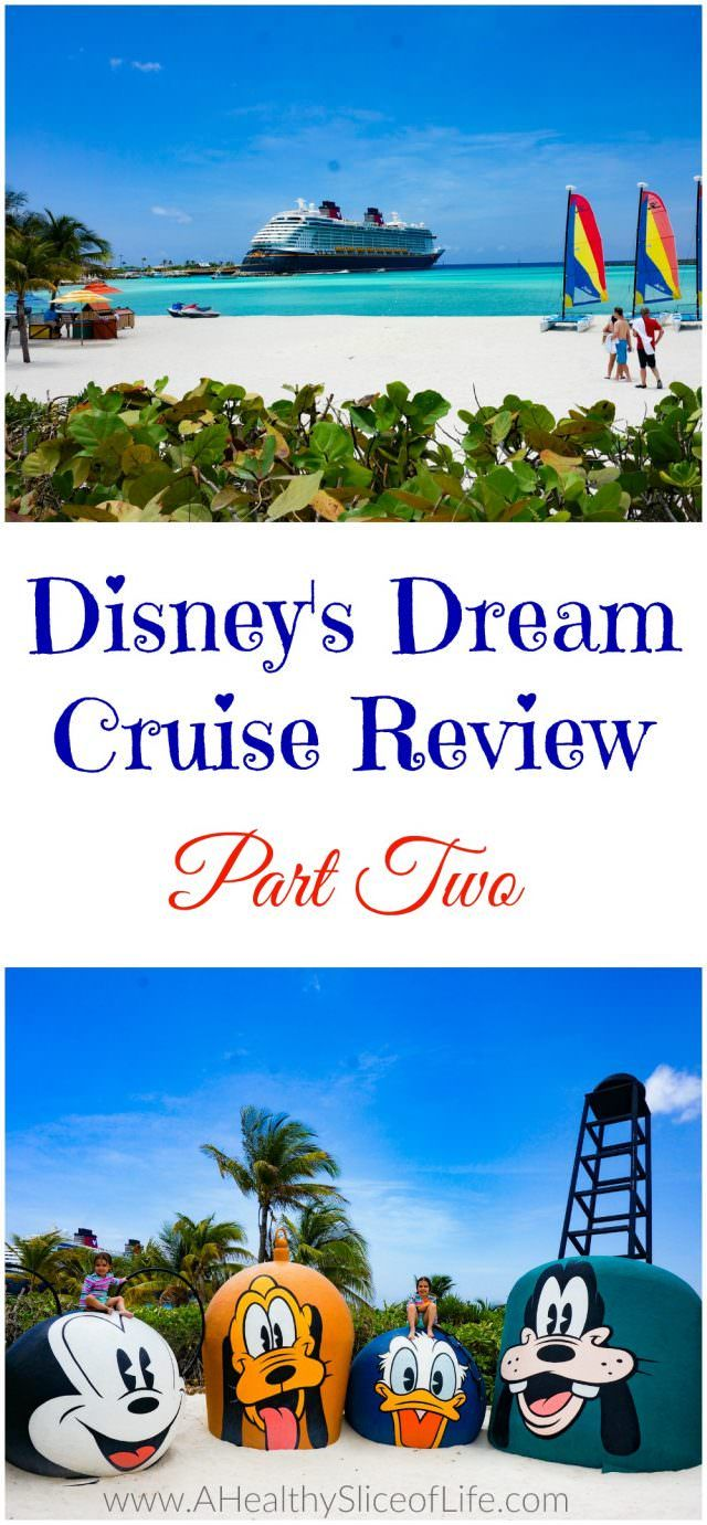 Disney's Dream Cruise Review part 2.  A complete review of my vacation with my husband and two small children aboard the Disney Dream Cruise!  Food, and Fun with my Family!