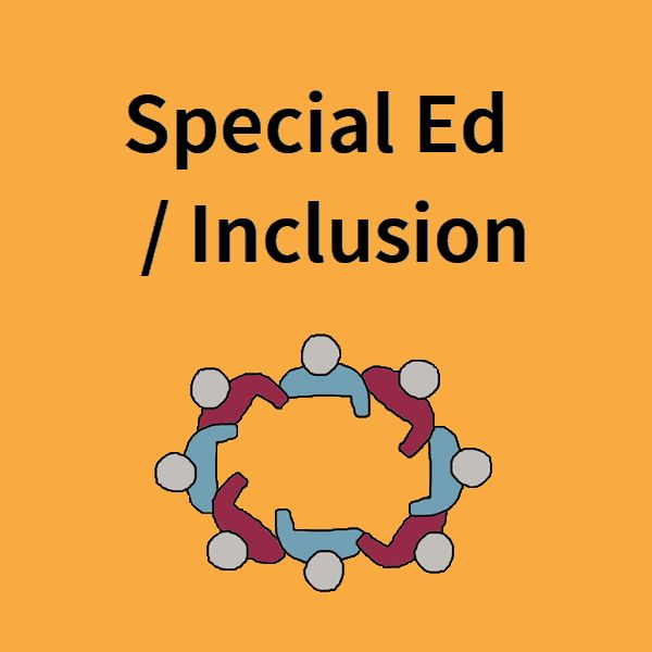 Articles on Special Education issues and resources for teaching students with autism, ADHD, dyslexia, physical disabilities, and other special needs. [board cover]