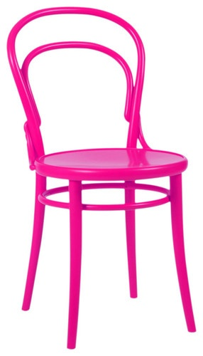 Thonet Chair in Hot Pink eclectic dining chairs and benches
