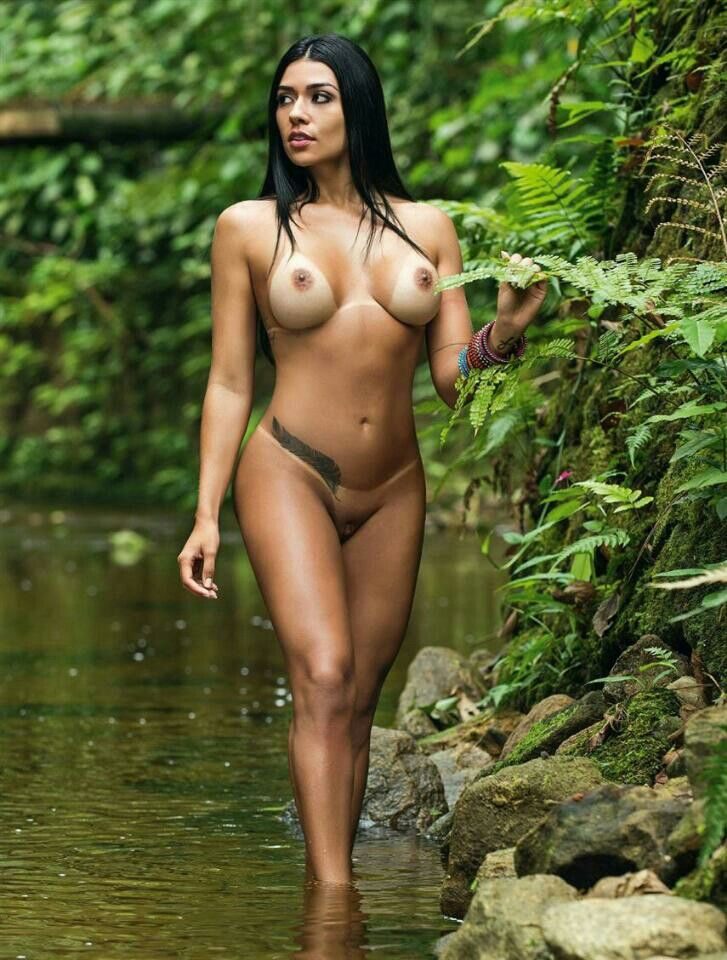 ass showing Nude the jungle in woman