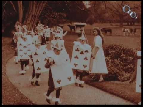 Alice in Wonderland, 1903. The first-ever film version of Lewis Carroll's tale has recently been restored by the BFI National Archive from severely damaged materials. Made just 37 years after Lewis Carroll wrote his novel and eight years after the birth of cinema, the adaptation was directed by Cecil Hepworth and Percy Stow, and was based on Sir John Tenniel's original illustrations.