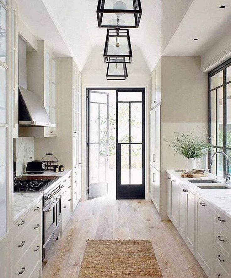 Galley Kitchen Design Ideas For 2019 Homes With Style And: Neutral Kitchen & Big Metal Doors