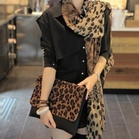 Fashion Leopard Getamped Scarf FSWZ028   $6.90  http://www.ScarfTopFashion.com