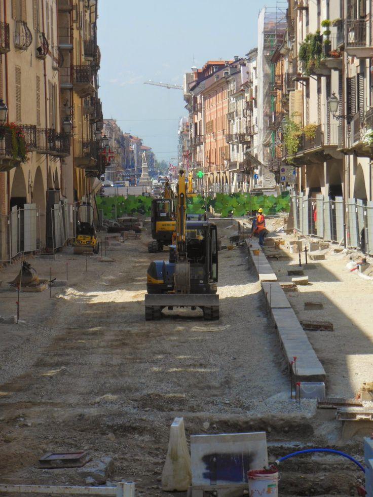 Cuneo e dintorni: Lavori in corso in Via Roma