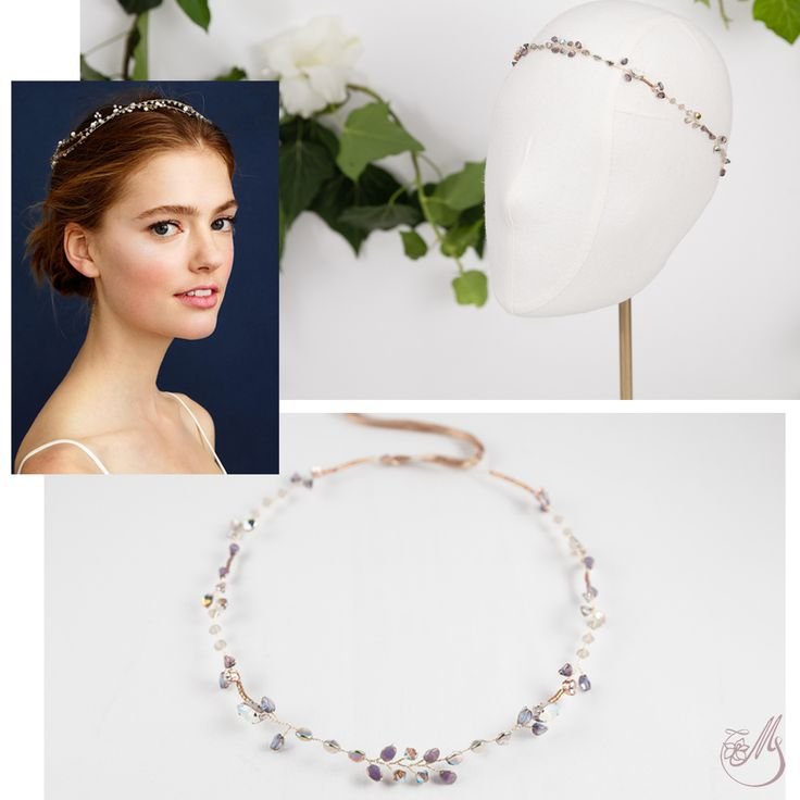 As simple and delicate as the lavender fields in bloom in Provence, this piece has a certain je-ne-sais-quoi given by the exquisite #lavender colored glass #beads and #Swarovski elements. Hand wired together into a simple #hairvine, they will add sparkle and a little drama to your appearance. #inspiration #maccessories #meetmeinthegarden #handmade #loveitbeforeyouwearit