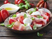 Салат капрезе с прошутто