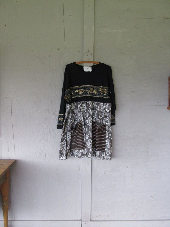 upcycled Romantic clothing women's Tunic by lillienoradrygoods
