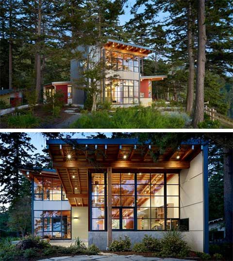 Chucaknut Drive Residence, situated on the coastline of Washington State overlooking the San Juan Islands