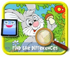 Bunny's Basket - Find the Differences Game, Online mobile and tablet-ready game for kids