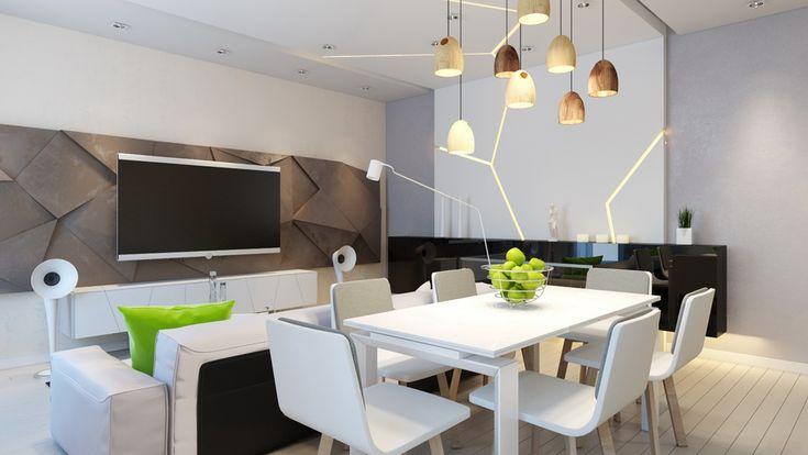 гостиная в стиле минимализм, интерьер в минимализме, идея дизайна гостиной, идея интерьера квартиры, дизайн студия corner