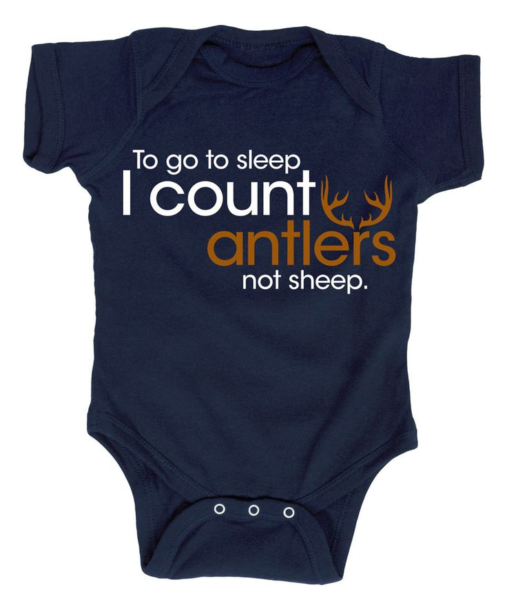 Look what I found on #zulily! Navy 'I Count Antlers Not Sheep' Bodysuit - Infant by Country Casuals #zulilyfinds