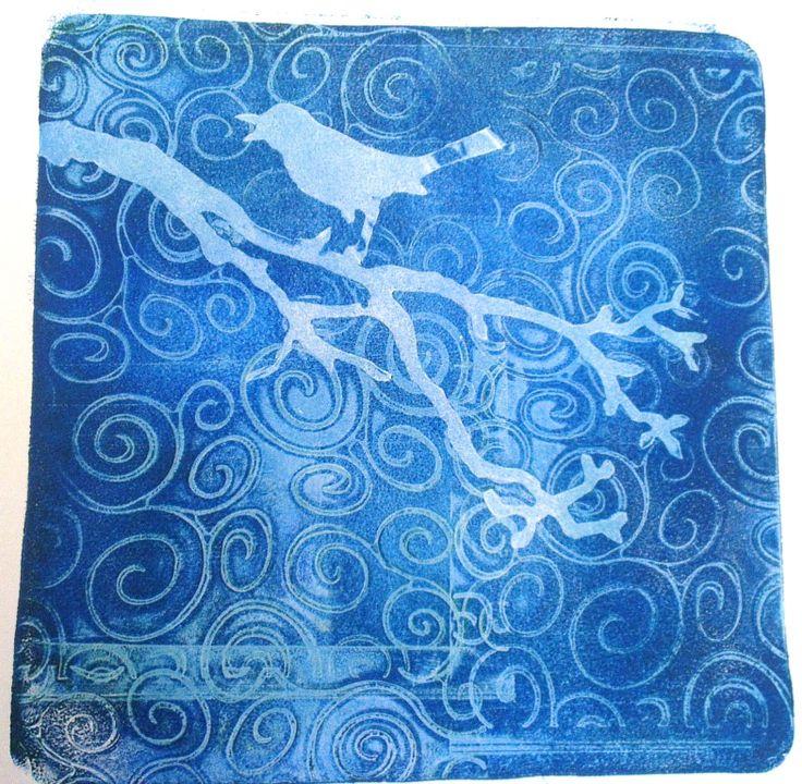 @Tim Holtz Die cut and embossing folder using Gelli Plate @Gelli Arts®