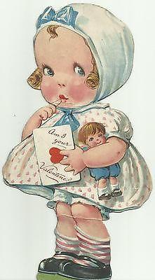 1917 Vintage Die Cut Valentine's Day Greeting Card... Used ...