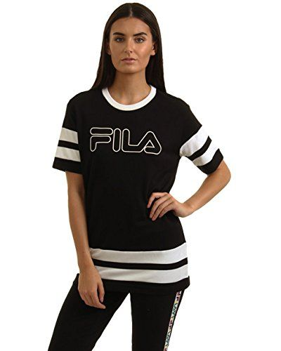 Fila - Black T-Shirt New band alert ladies!!!!! Get yourself these new black top from FILA. Featuring a loose fit for comfort, cotton fabric thats breathable and durable, the classic fila log (Barcode EAN = 5054598186092) http://www.comparestoreprices.co.uk/december-2016-5/fila--black-t-shirt.asp