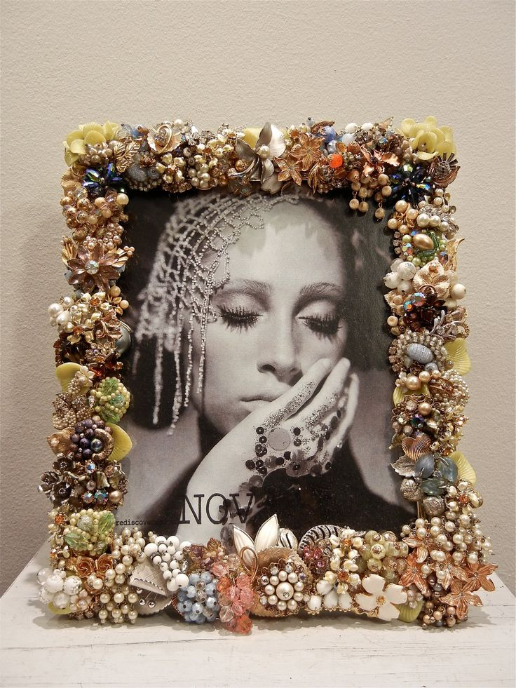 Very best 114 best ♡ Jeweled Frames ♡ images on Pinterest | Picture frame  SK43