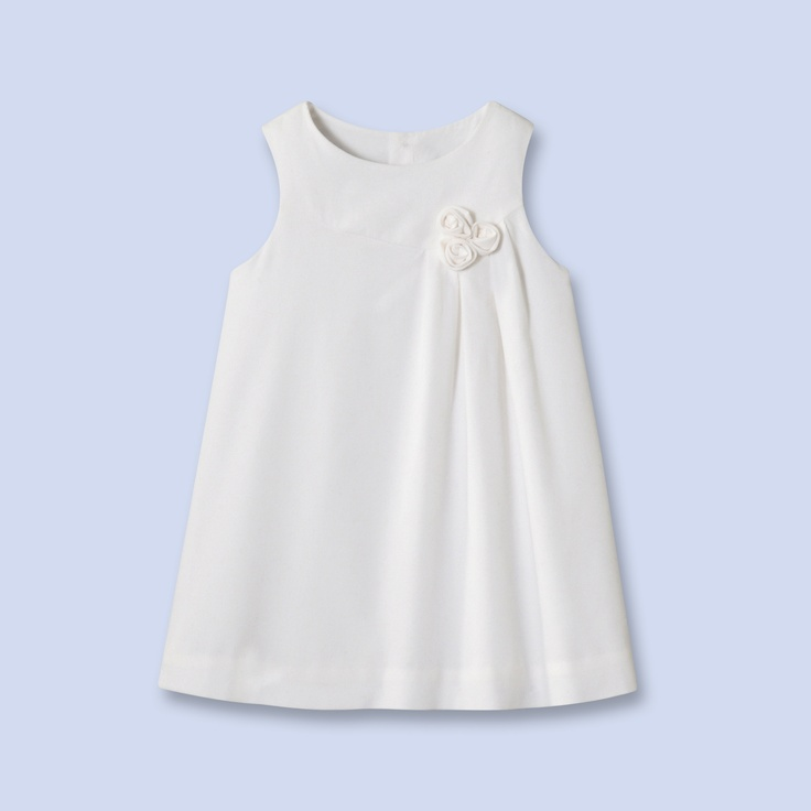 Robe chasuble en velours blanc pour b b fille baby for A coudre pour bebe