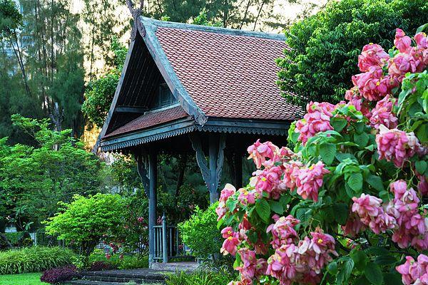 Asian Country Style Pavilion  Photograph by Nadezhda Tikhaia