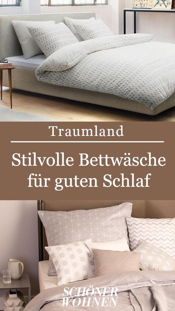 Shop Bettwasche Grid Aus Der Schoner Wohnen Kollektion Bild 9 Bettwasche Bettwasche Schlafzimmer Schlafzimmer Gestalten