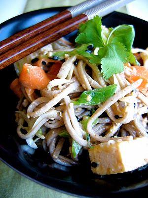 Creamy sesame soba noodles, from Bojon Gourmet.