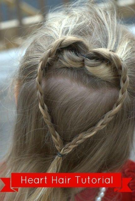 Heart Crown Braid | 37 Creative Hairstyle Ideas For Little Girls http://www.bowmania.net/2013/02/heart-hair-fun-for-valentines-day.html
