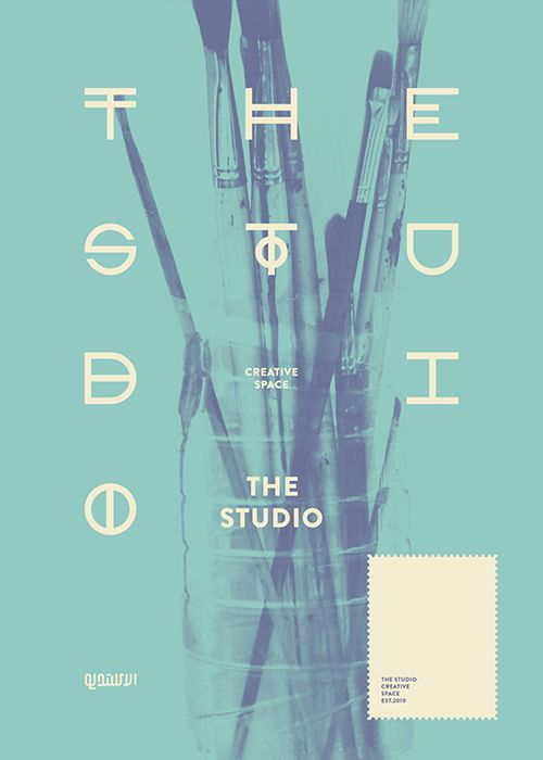 Unique Graphic Design, The Studio via @franck_vionnet #Graphic #Poster #Design