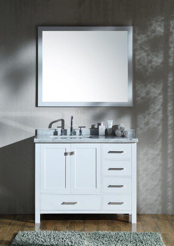 "Marine 43"" Single Bathroom Vanity with Mirror"