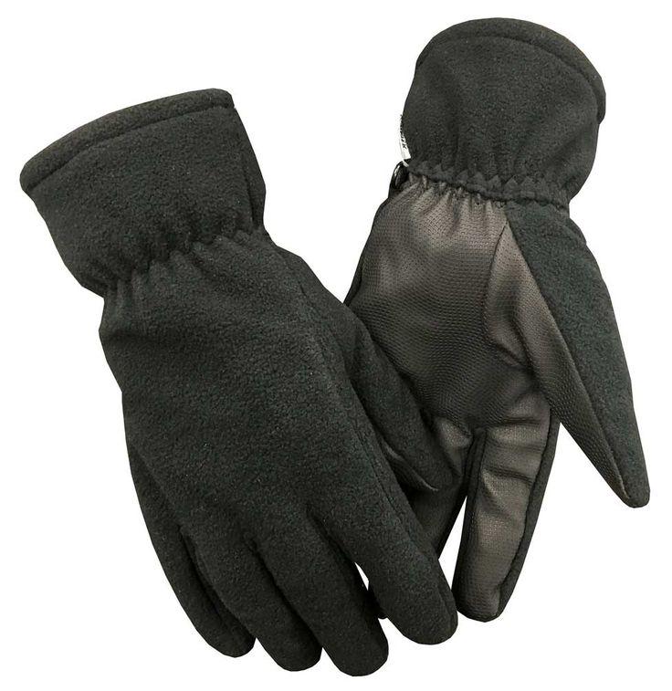Northstar Unisex Fleece Thinsulate Gloves with Waterproof Bladder, Black. 501BK