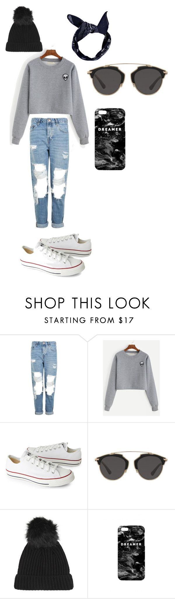 """""""kleding style"""" by britje-1 on Polyvore featuring mode, Topshop, Converse, Christian Dior, Mr. Gugu & Miss Go en Boohoo"""