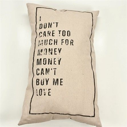 Large Framed Quote Pillow