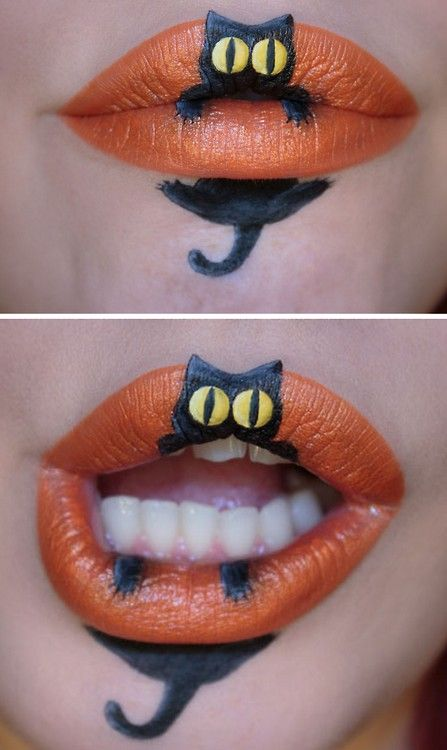 halloweencrafts: DIY Inspiration: Cat Got Your Tongue? Makeup...// just for fun