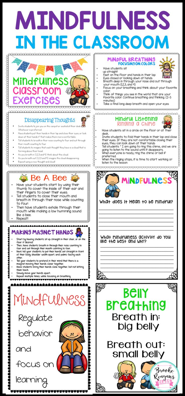 Are you needing something to help your classroom management to get through the end of the school year? Bring Mindfulness Activities into your classroom! Help students regulate their feelings and emotions with mindfulness!