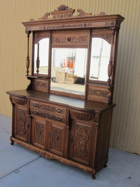 English Antique Sideboard Server Hutch Antique Furniture