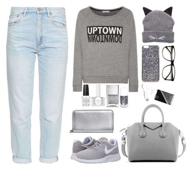 """Shades #1"" by wennynagane on Polyvore featuring Rebecca Minkoff, MiH, NIKE, Topshop, Free People, Givenchy, Alexander McQueen, Ciaté, OPI and Nails Inc."