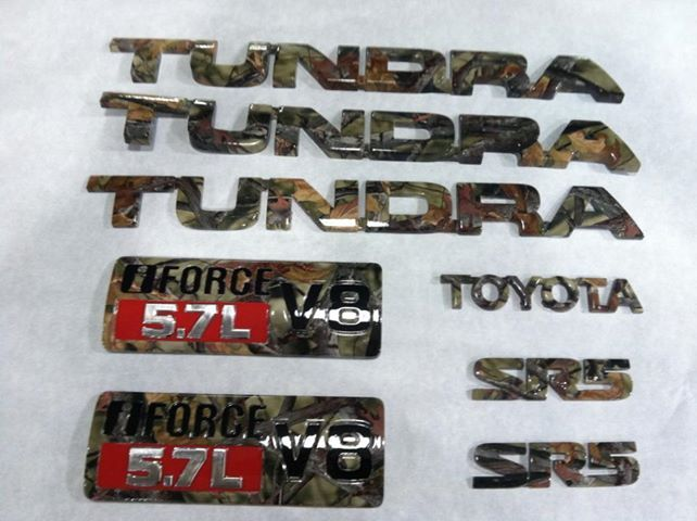 Camo Dipped Toyota Tundra Decals
