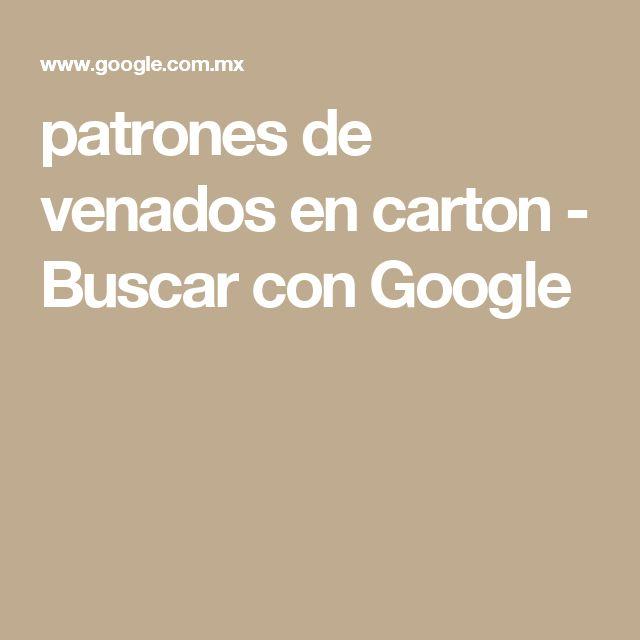 patrones de venados en carton - Buscar con Google