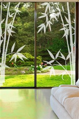 Glass Decals Bamboo 1
