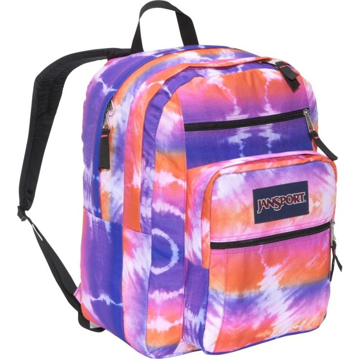Tye Dye big student Jansport backpack for girls