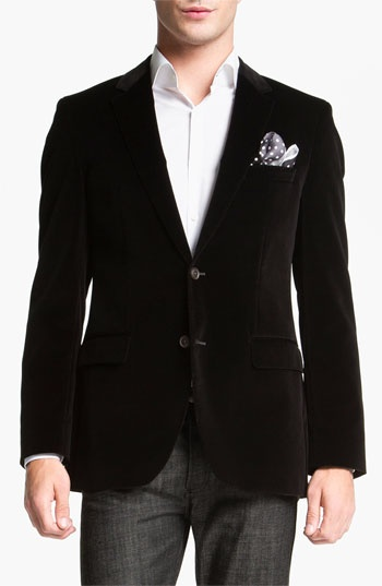 BOSS Black 'Keys' Velvet Blazer available at #Nordstrom