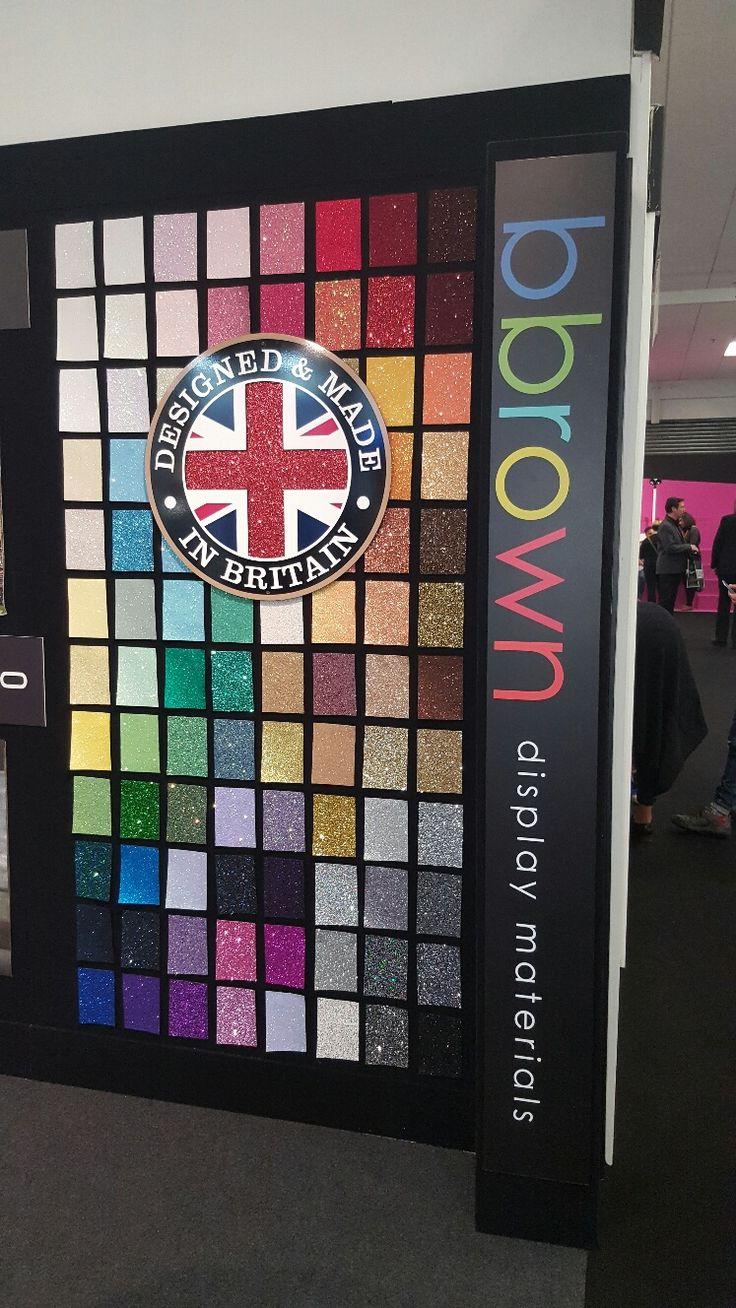 Bbrown's stand U26 at RDE17 ft. dazzling glitter fabrics.