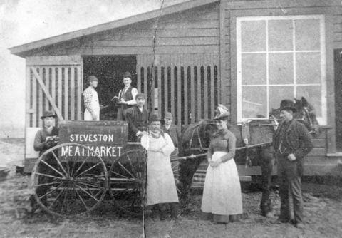 Exterior of Steveston Meat Market circa 1890