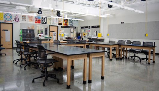Classroom Design Website : Graphic design classroom calder art center grand valley