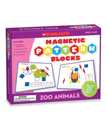 Love this Zoo Animals Magnetic Pattern Block Set on #zulily! #zulilyfinds