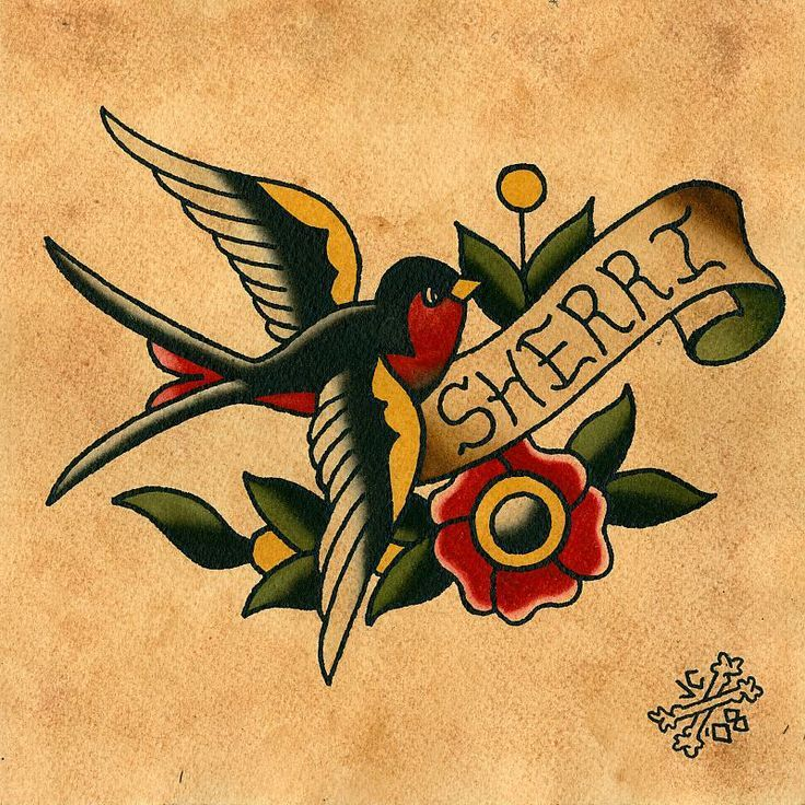 110 best tattoo images on pinterest tattoo designs for Traditional sparrow tattoo