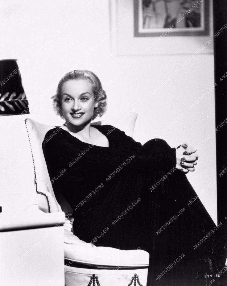 beautiful as always Carole Lombard seated portrait 712-17