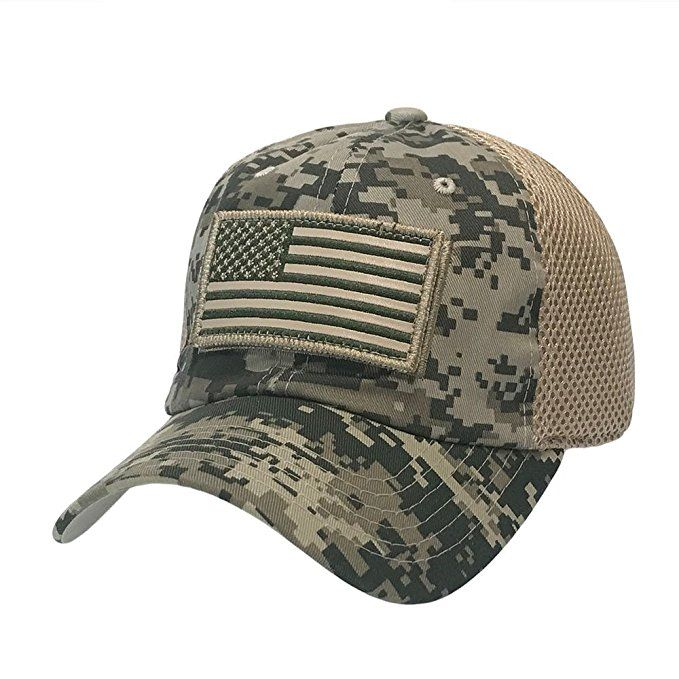 82ce052f827 The Hat Jungle USA American Flag Patch Tactical Hat Mesh Back Adjustable Baseball  Cap